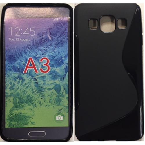 Samsung Galaxy A3 black gel case
