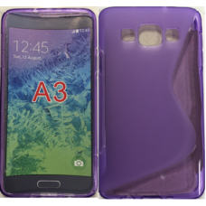Samsung Galaxy A3 purple gel case