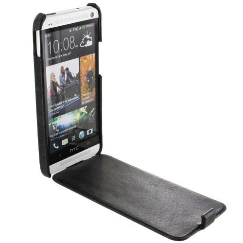 FLIP LEATHER CASE POUCH FOR HTC ONE