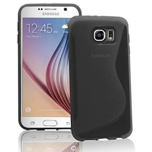 Samsung Galaxy S6 edge black/clear gel case